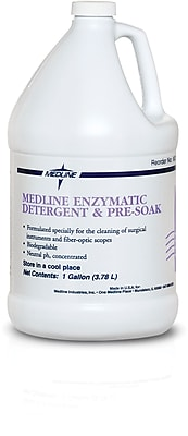 Medline Single Enzymatic Surgical Instrument Detergents and Presoak, 1 gal Size, 4/Pack