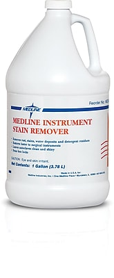 Medline Instrument Stain Removers, 1 gal Size, 4/Pack