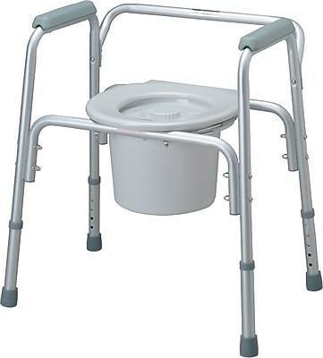 Medline Commode Seat and Lids, Bedside Commodes, 4/Pack