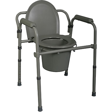 Medline MDS89664SLH Bedside 3-in-1 Commode Seat and Lids