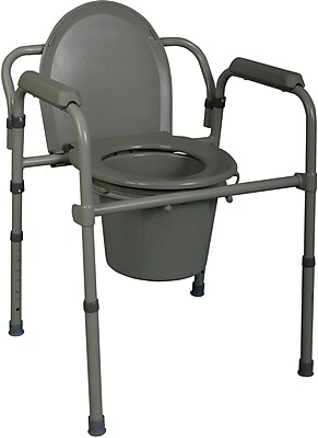 Medline Commode Seat and Lids, Bedside 3-in-1 Commodes, 4/Pack
