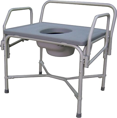 Medline Bariatric Drop-arm Commodes, 850 lb