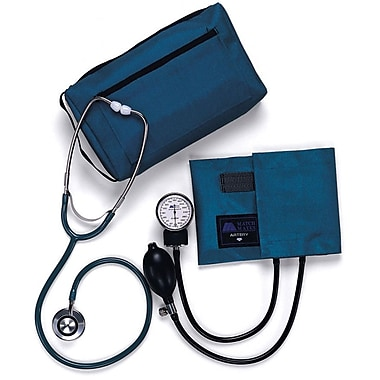 Medline Compli-Mates Aneroid Sphygmomanometer Combination Kits, Royal Blue, Adult