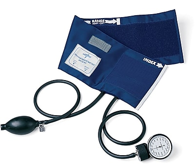 Medline PVC Handheld Aneroid Sphygmomanometers, Black, Adult