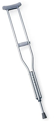 Medline Standard Aluminum Crutch, Tall Adult, 8/Pack