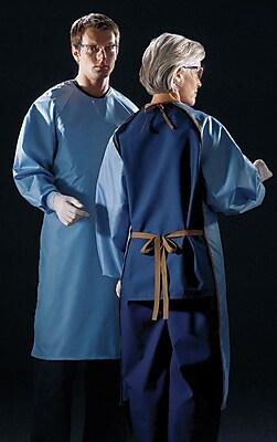 Medline ASEP Unisex Blockade Antistatic Backless Barrier Gowns, Ceil Blue (MDT012093)
