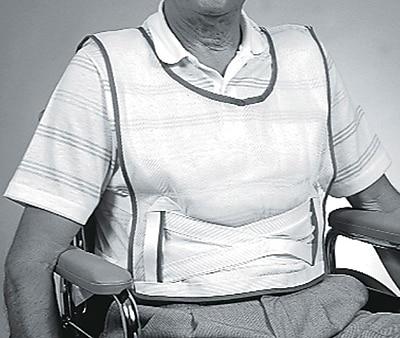Medline Slipover Patient Safety Vests, Large, 6/Pack
