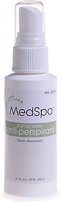 MedSpa™ Pump Spray Antiperspirant/Deodorants, 2 oz, 48/Pack