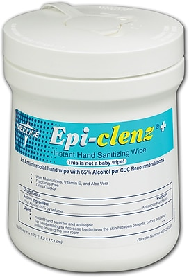 Epi-Clenz+ Instant Hand Sanitizing Wipes, 12/Pack, 7