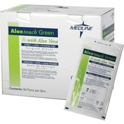 "Aloetouch® Green Powder-free Latex Surgical Gloves, Dark Green, 7 1/2 Size, 12"" L, 50/Box"