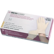"MediGuard® Stretch Synthetic Vinyl Exam Gloves, Beige, Medium, 9"" L, 1000/Pack"