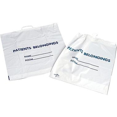 Medline Rigid Handle Patient Belonging Bags, Clear, 250/Pack
