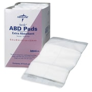 "Medline Sterile Multi-Trauma Abdominal Pads, 30"" L x 10"" W, 50/Pack"