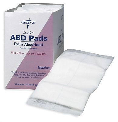 Medline Non-sterile Abdominal Pads, 10