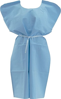 Medline NON24355 Deluxe Patient Gowns, White