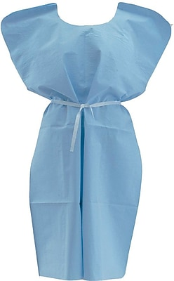 Medline NON24354 Disposable x-ray Patient Gowns, Blue