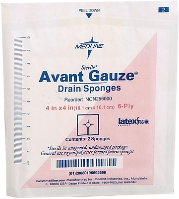 Medline Avant Gauze NON256000 Sterile Drain Sponges 600/Pack
