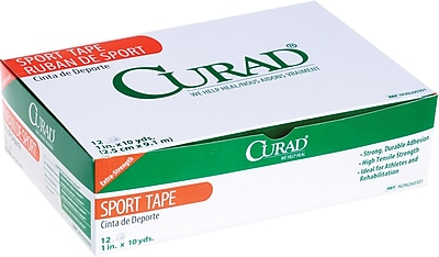 Curad® Ortho-porous Sports Adhesive Tapes, 10 yds L x 3