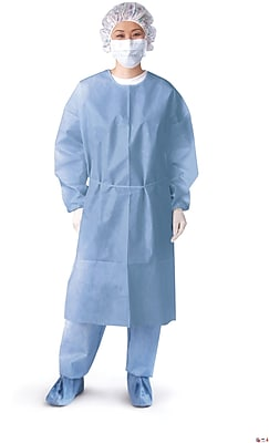 Medline Regular/Large Closed Isolation Gowns, Blue (NON27114)