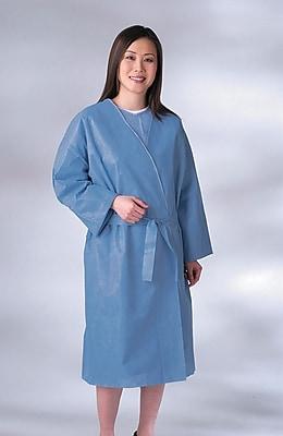 Medline Disposable Patient Robes, Blue, Regular/Large