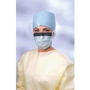 X-Tra® Surgical Face Masks with Eyeshield, Blue, 25/Box