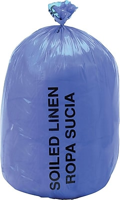 Medline Soiled Linen Liners, Blue, 43