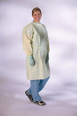 Medline XL AAMI Level 2 Isolation Gowns, Yellow (NONLV200XL)