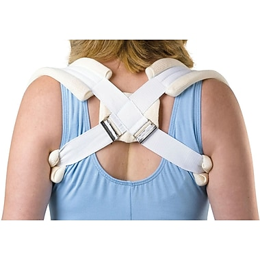Medline Standard Clavicle Straps, XS, Stockinette Covered Foam Pad