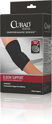 Curad® Elbow Sleeve With Compression Strap, Small, 6