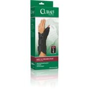 Curad® Wrist and Forearm Splints with Abducted Thumb, Large, Right Hand, 4/Pack