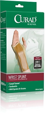 Curad® Elastic Left Wrist Splint, Medium, Retail Packaging, 4/Pack