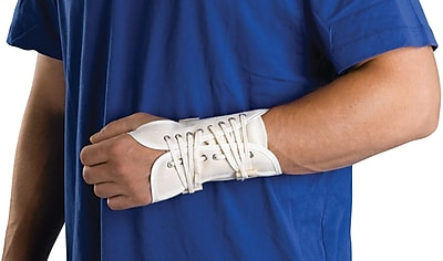 Curad® Lace-up Right Wrist Splints, Large, Retail Packaging, 4/Pack