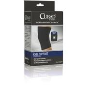 Curad® Closed Patella Knee Supports, Black, Medium, Retail Packaging, Each