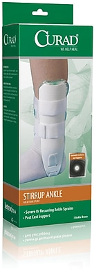 Curad® Air and Foam Stirrup Ankle Splint, Universal, Retail Packaging, 4/Pack