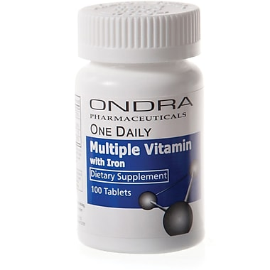 Generic OTC Multi-vitamin Tablets with Iron, 1000/Pack