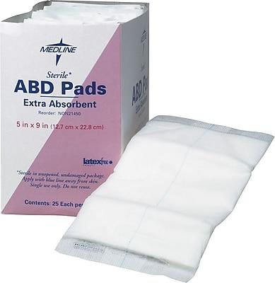 Medline Sterile Abdominal Pads, 9