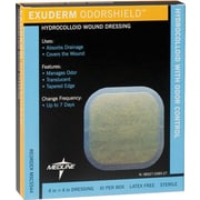 "Exuderm® Odorshield Hydrocolloid Dressings, 6 1/2"" L x 6 2/5"" W  , 5/Box"