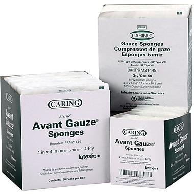 Caring® Non-woven Sterile Gauze Sponges