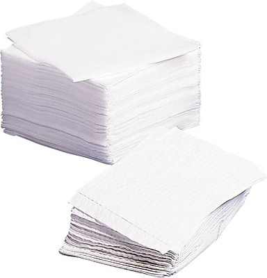 Medline Deluxe Dry Disposable Washcloth, White, 20
