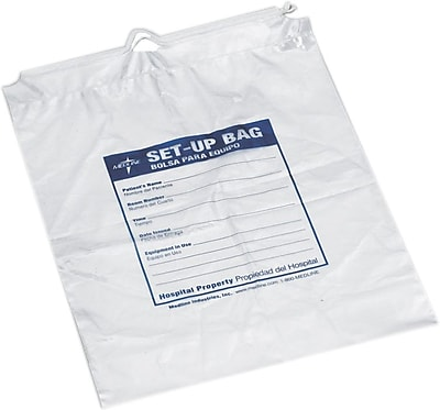 Medline Respiratory Patient Set-up Bags, Clear, 500/Pack