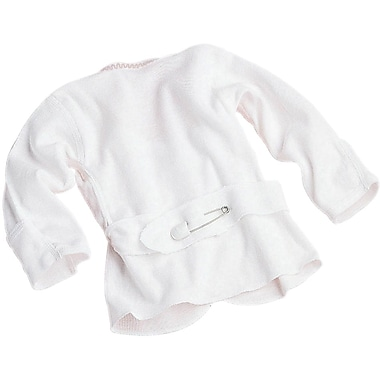 Medline Pin-back Infant Shirts, 6 Month, Mitten Cuff