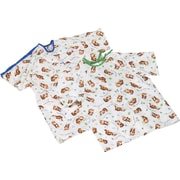 Tired Tiger Print Pediatric IV Gowns, Large, Dozen