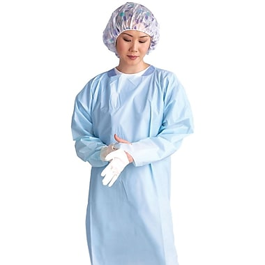 Medline Thumbs Up XL Isolation Gowns, Blue (NONTH200)