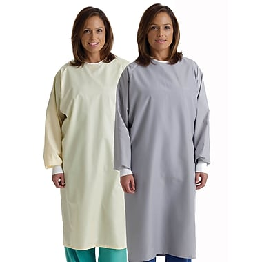 Medline Blockade Unisex One Size Fits Most Isolation Gowns, Gray (MDT011205)