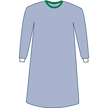 Eclipse Sterile Non-reinforced Surgical Gowns, Blue, Large, Hook and Loop, Each, 30/Pack