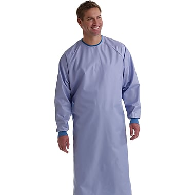 Blockade® Surgeons Gown, Ceil Blue, Large, Snap Neck and Tie Back, Dozen