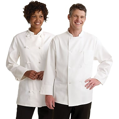 Medline Knot Button Chef Coats, White, 34 Size