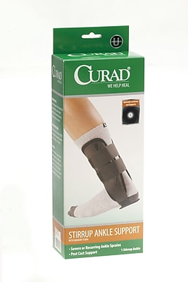 Curad® Foam Stirrup Ankle Splint, Regular, Each