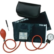 Medline Neoprene Handheld Aneroid Sphygmomanometers, Black, Adult