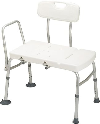 Guardian® Transfer Benches with Backs, White, 2/Pack